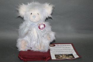 "A long and soft plush ""Nancy"" Charlie Bear, CB614837B, having lilac fur covered body,"