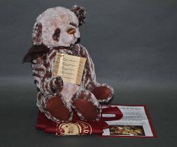 "A soft plush ""Alan"" Charlie Bear, code CB151524B, having ruffled brown and cream fur covered body,"