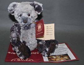 "A soft plush ""Humble"" Charlie Bear, CB161692, having grey tipped fur covered body,"
