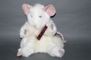 """A soft plush """"Sniff Mouse"""" Charlie Bears puppet, measuring 27cm tall,"""