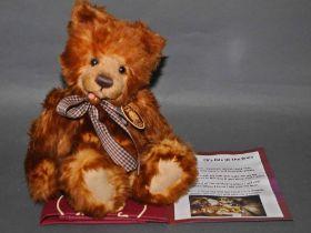 "A soft plush ""Scamp"" Charlie Bear, CB104691, having fox-red fur covered body,"