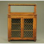 A Regency/William IV rosewood side cabinet,