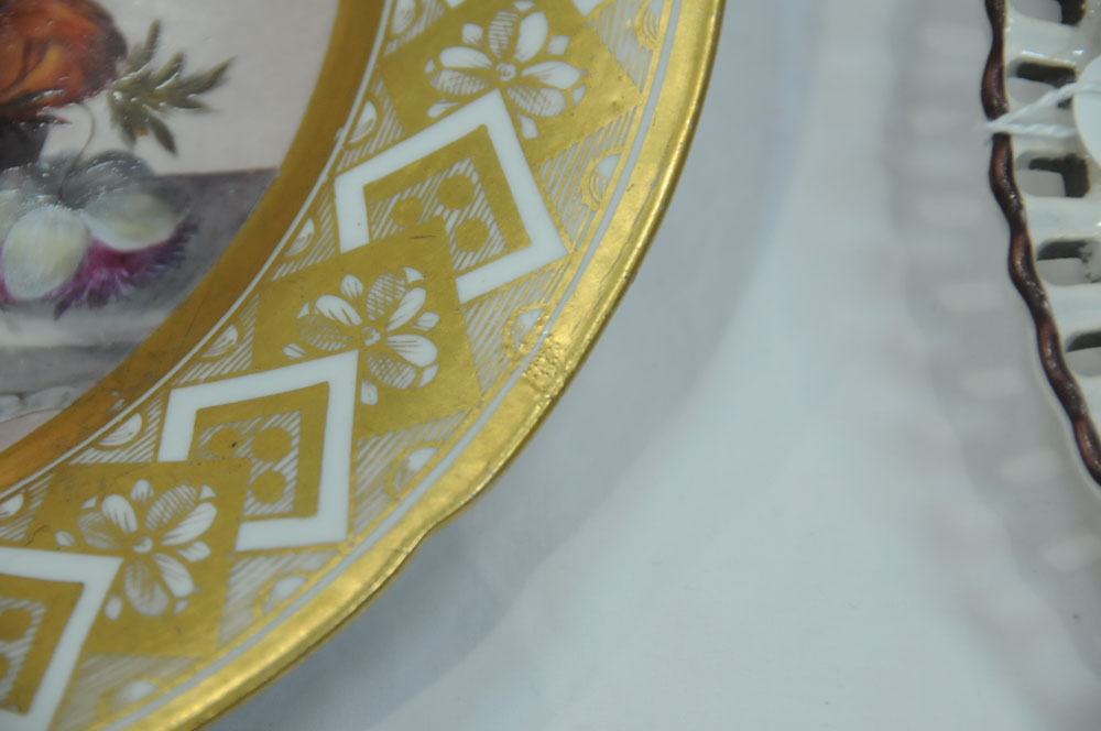 An early 19th century Pinxton porcelain circular cabinet plate, - Image 7 of 8