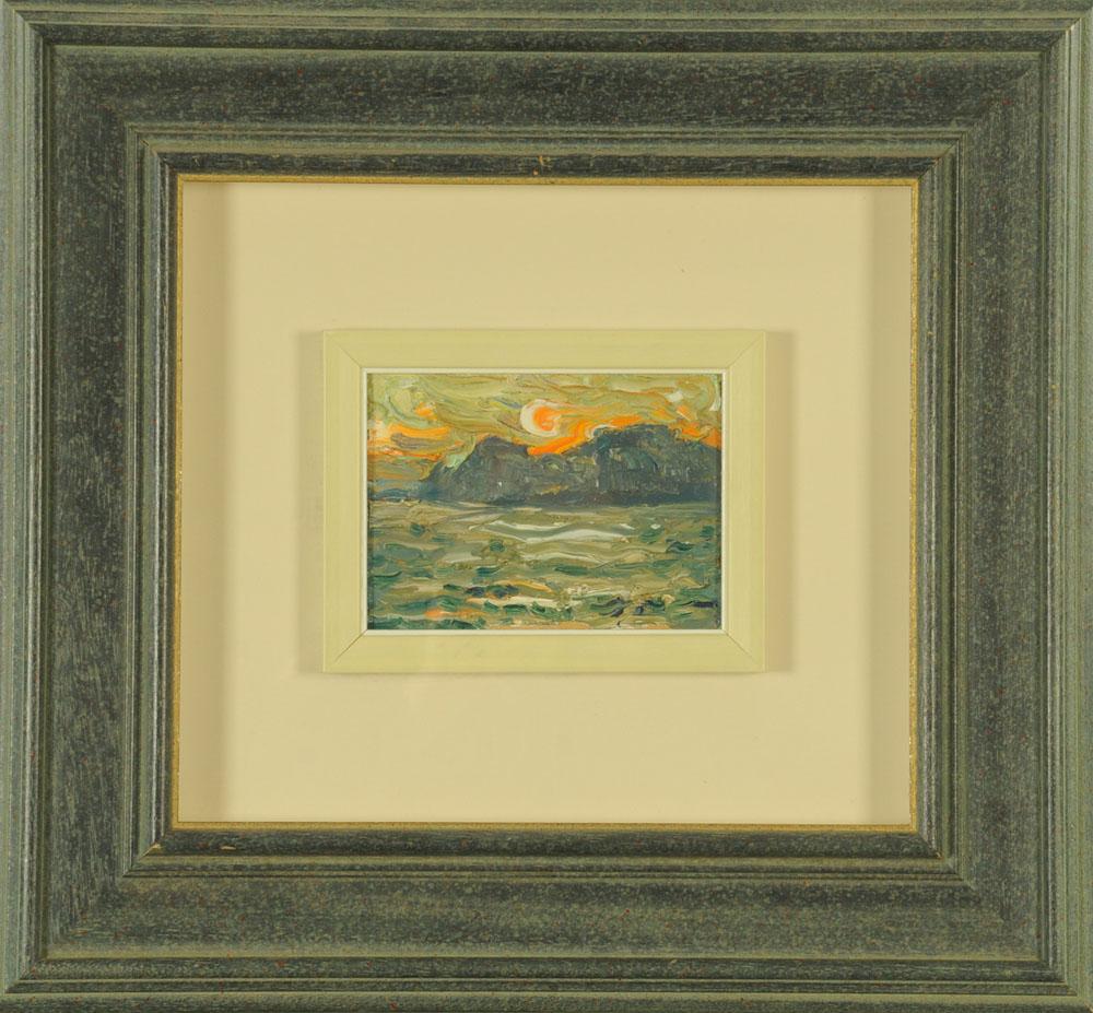 Frederick Joseph Yates (1922-2008), oil on board, sunset, 12.5 cm x 16. - Image 2 of 4