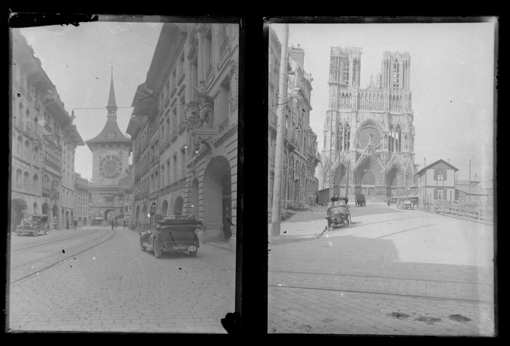 Early 20th century photographic glass half and full plates, depicting vintage cars on tour, - Image 7 of 10