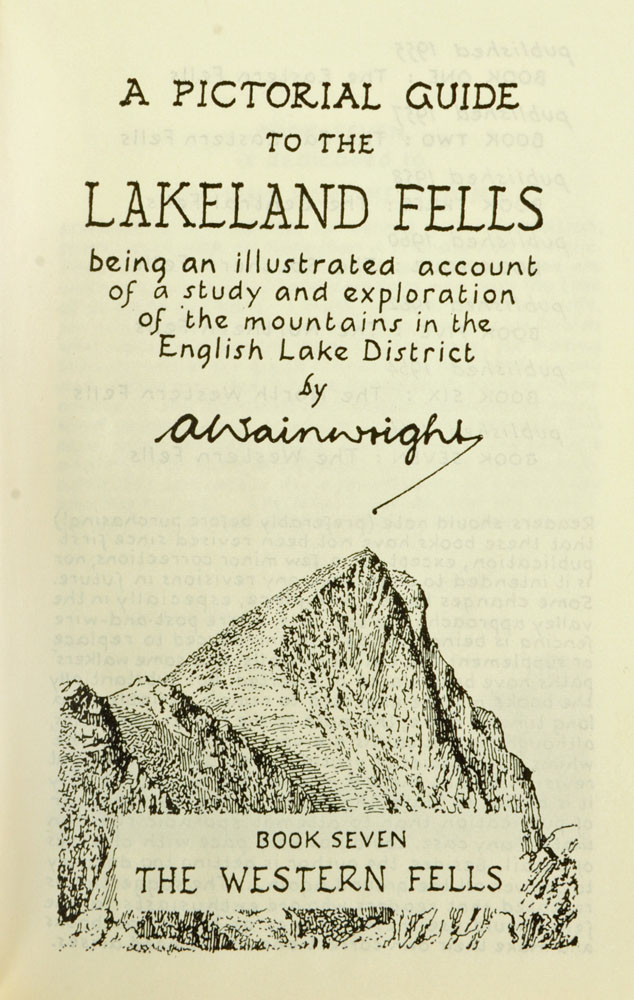"""Alfred Wainwright (1907-1991), """"A Pictorial Guide to the Lakeland Fells"""" first edition Book VII. - Image 2 of 3"""