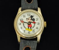 A Walt Disney Productions Mickey Mouse wristwatch by Bradley, case diameter 31 mm,
