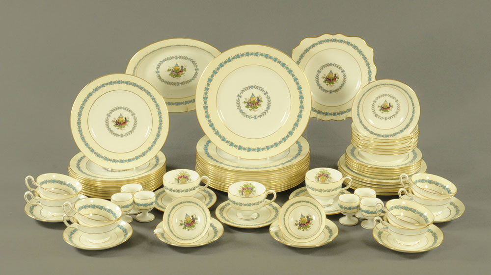 A Wedgwood Appledore dinner service, comprising 12 dinner plates, 10 medium plates,