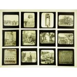 A case of eighty seven late Victorian/early 20th century magic lantern slides,