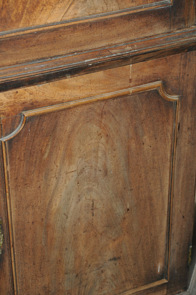 An early 19th century mahogany standing corner cupboard, - Image 12 of 13