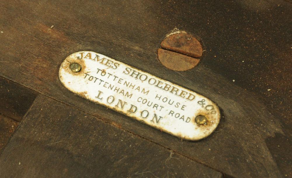 A James Shoolbred & Co London ebony and amboyna inlaid circular table, - Image 2 of 2
