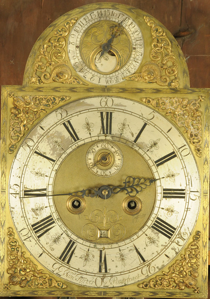 A George III mahogany longcase clock, with eight day striking movement by Sam Farrer Pontefract, - Image 2 of 4