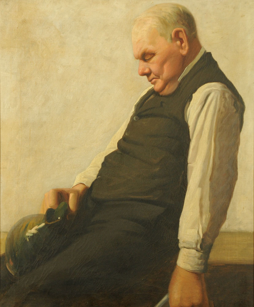 Late 19th/early 20th century Scottish School, oil painting on canvas, portrait of a butler.