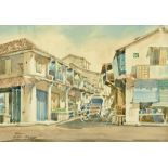 "20th century school, watercolour, ""Second Cross Street Malacca"", 27 x 37 cm,"