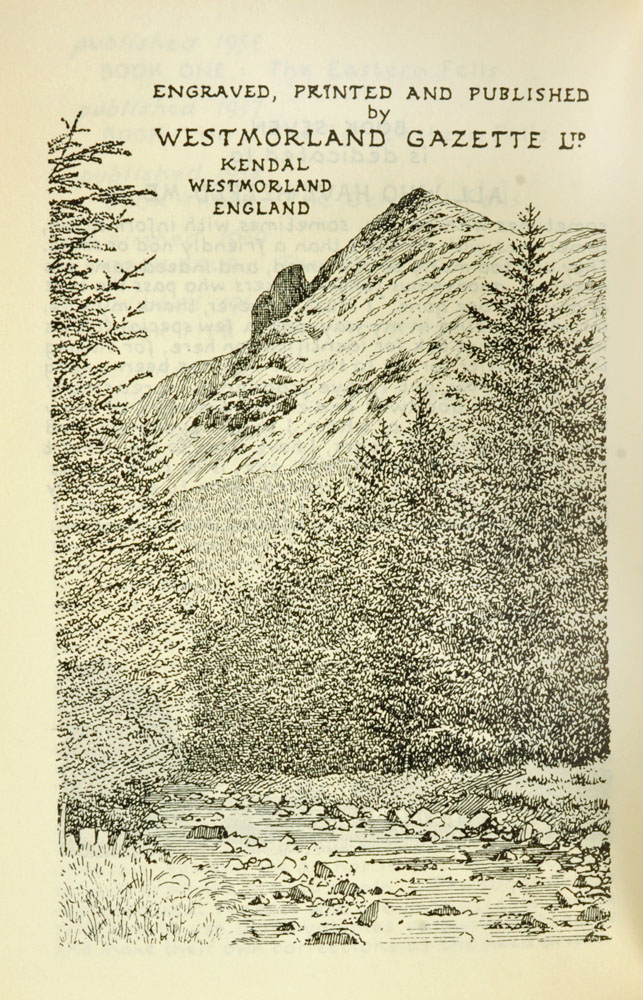 """Alfred Wainwright (1907-1991), """"A Pictorial Guide to the Lakeland Fells"""" first edition Book VII. - Image 3 of 3"""