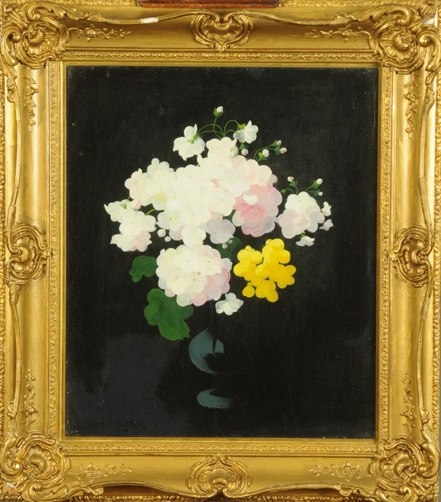 James Stuart Park (1862-1933) oil on board, still life flowers in vase, 60 cm x 49 cm, framed, - Image 2 of 7