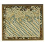 A 19th century Eastern silkwork embroidery, 47 cm x 55 cm, framed.