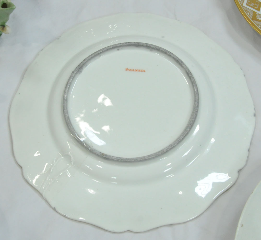 An early 19th century Swansea porcelain circular plate with shaped rim, - Image 4 of 9
