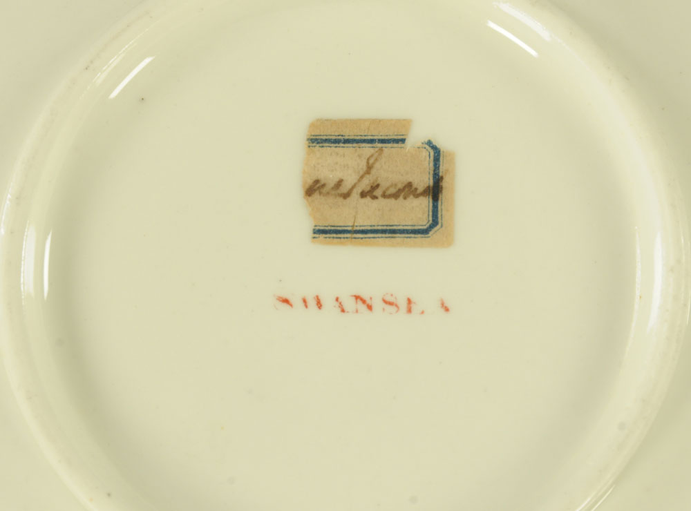 An early 19th century Swansea pottery coffee cup and saucer, - Image 3 of 5