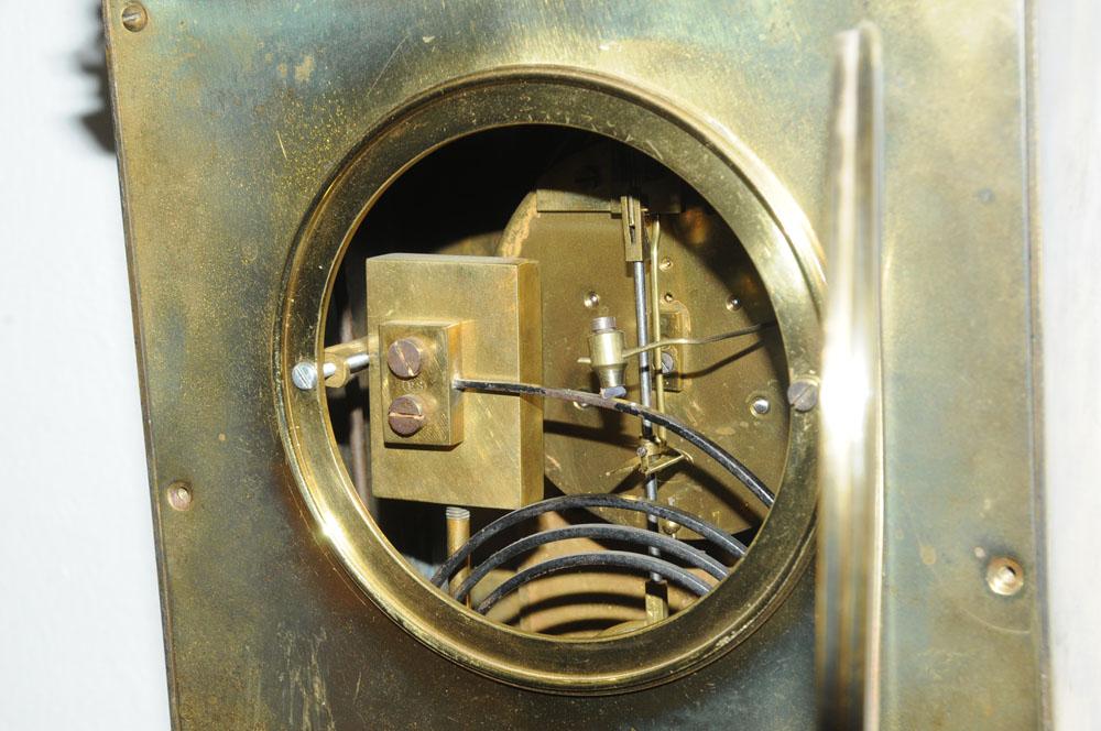 A 19th century gilt brass cased bracket clock, - Image 5 of 5