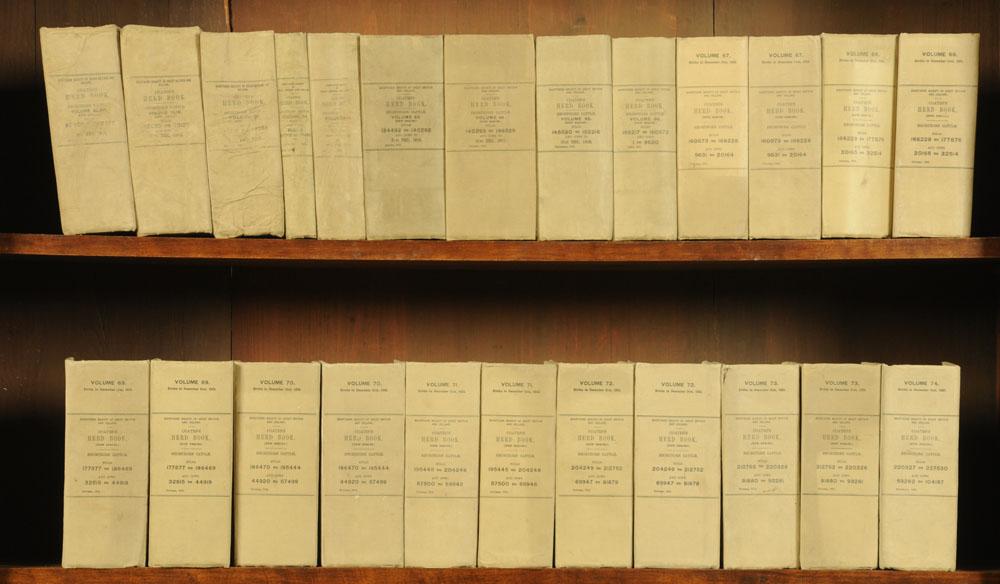 """Seventy volumes """"Coates's Herd Book"""", earliest circa 1901. - Image 2 of 3"""