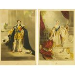 """After H.T. Ryall, a pair of Victorian engravings """"Queen Victoria"""" and """"Prince Albert""""."""