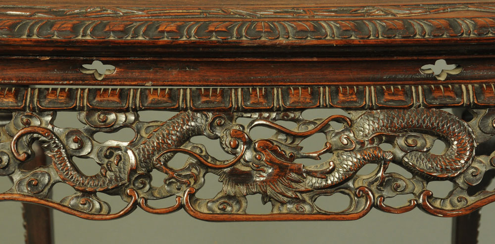 A 19th century Chinese hardwood large jardiniere stand or table, - Image 3 of 5