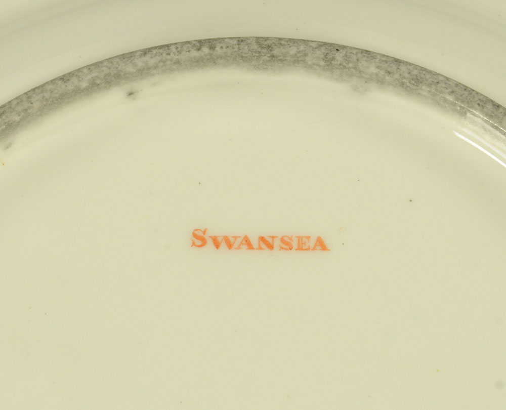 An early 19th century Swansea porcelain circular plate with shaped rim, - Image 2 of 9