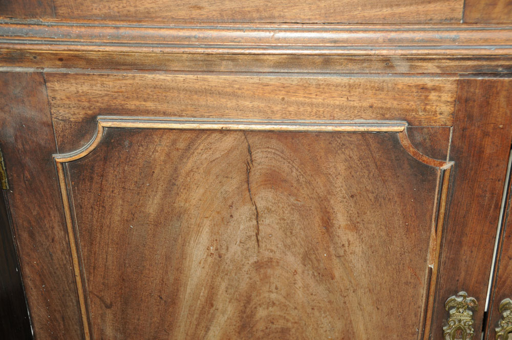 An early 19th century mahogany standing corner cupboard, - Image 10 of 13
