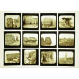 Fifty nine late Victorian/early 20th century magic lantern slides,