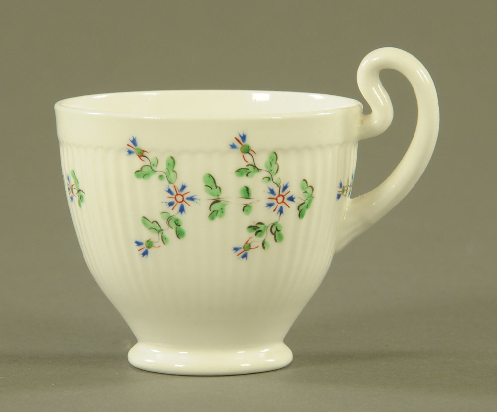 An early 19th century Swansea pottery coffee cup and saucer, - Image 4 of 5