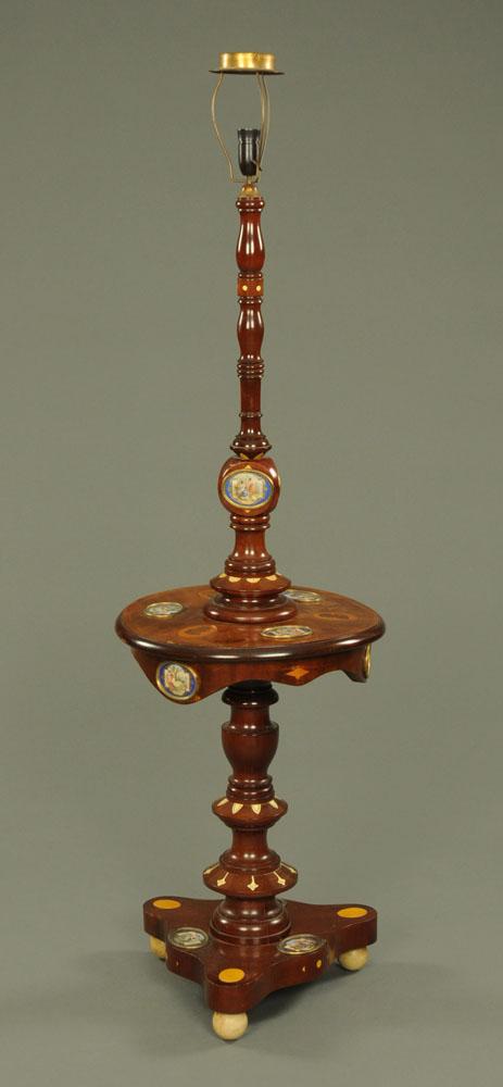 An early 20th century mahogany lamp standard,
