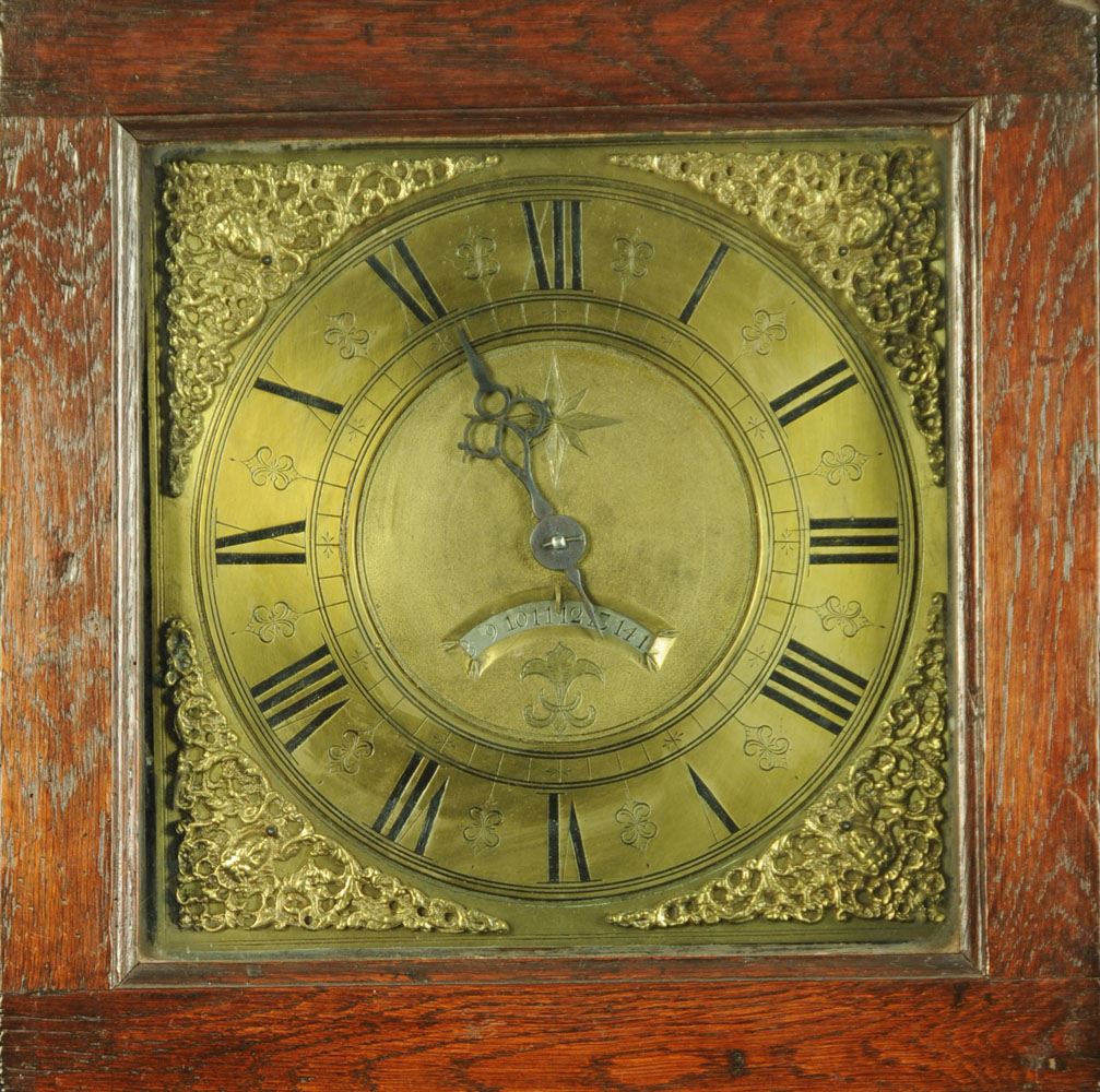 An 18th century oak longcase clock with thirty hour movement and single pointer, - Image 2 of 4
