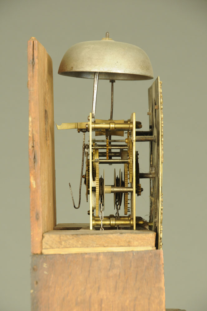 An 18th century oak longcase clock with thirty hour movement and single pointer, - Image 4 of 4
