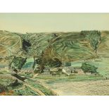 "R W Woolley, a watercolour ""Watendlath View"", 35 cm x 46 cm, framed, signed."
