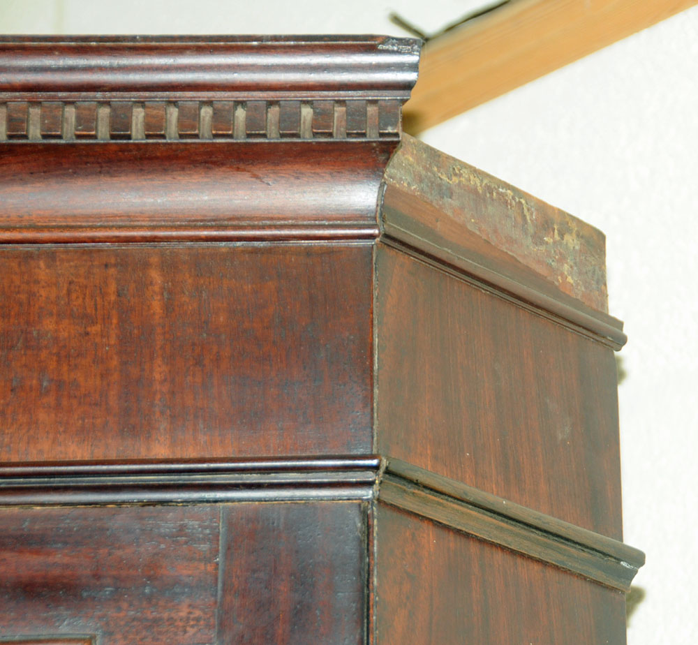 An early 19th century mahogany standing corner cupboard, - Image 4 of 13