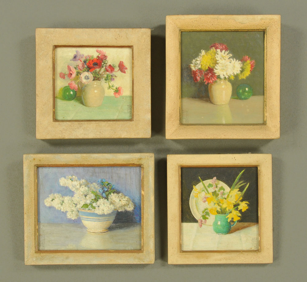 Frederick Boyd Waters (1879-1967) four miniature oil painting,