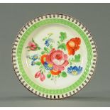 A late 18th century Swansea pearlware pottery circular plate with pierced rim,