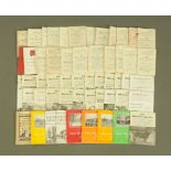 """Ten volumes """"The Dairy Shorthorn Yearbooks"""", together with a collection of Cattle Sale programmes,"""