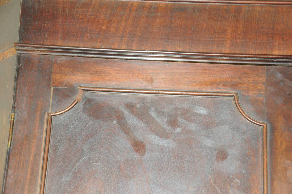 An early 19th century mahogany standing corner cupboard, - Image 8 of 13