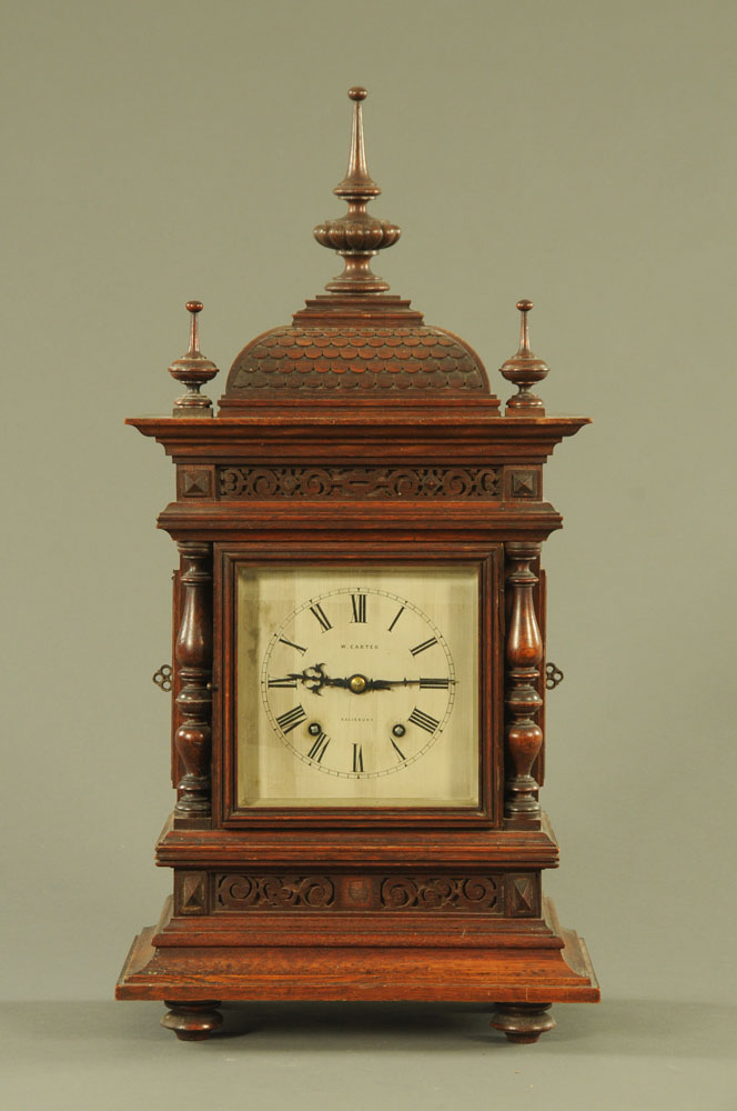 An Edwardian bracket clock by W Carter Salisbury,