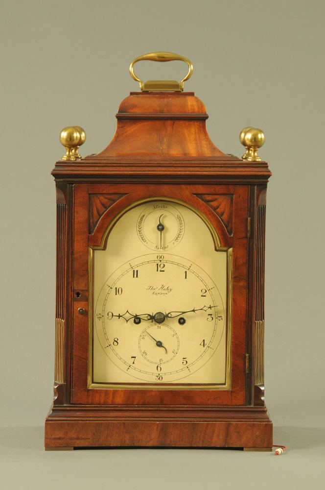 A Regency mahogany bracket clock by Haley London,