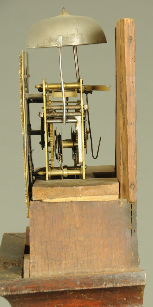 An 18th century oak longcase clock with thirty hour movement and single pointer, - Image 3 of 4