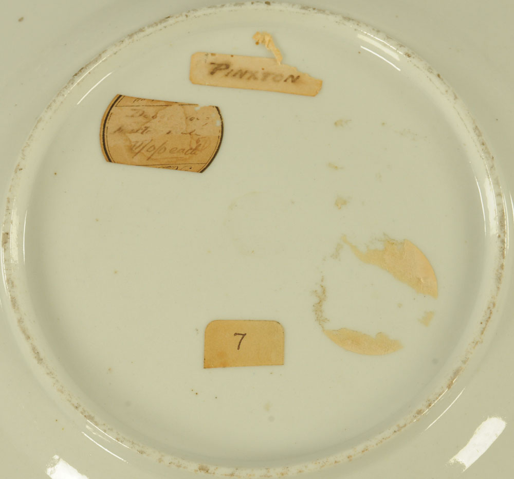 An early 19th century Pinxton porcelain circular cabinet plate, - Image 2 of 8
