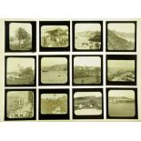 A case of seventy one late Victorian/early 20th century magic lantern slides,