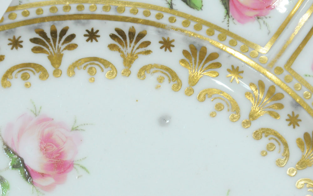 An early 19th century Swansea porcelain circular plate with shaped rim, - Image 8 of 9