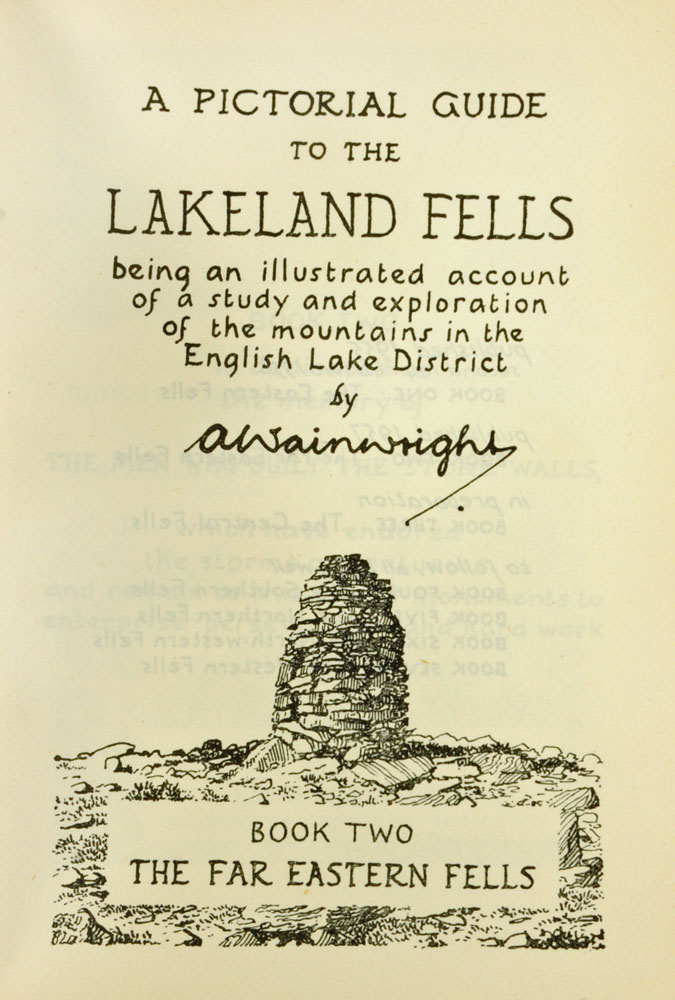 """Alfred Wainwright (1907-1991), """"A Pictorial Guide to the Lakeland Fells"""" first edition Book II. - Image 2 of 3"""