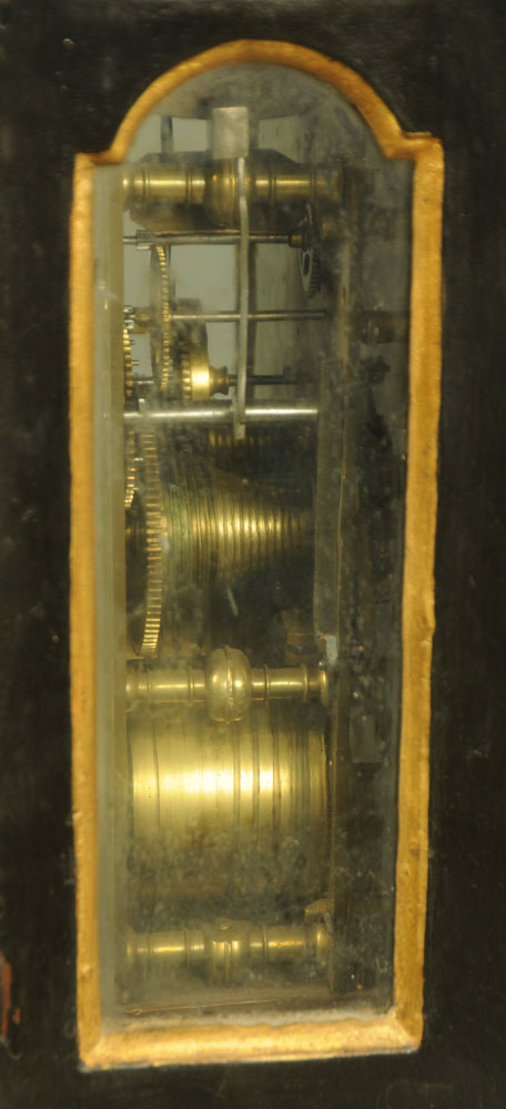A black and gilt painted bracket clock, - Image 5 of 5