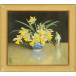 Frederick Boyd Waters (1879-1967), watercolour, still life study of a vase of daffodils, 26 x 30 cm,