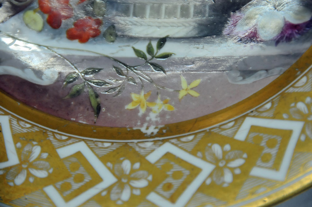 An early 19th century Pinxton porcelain circular cabinet plate, - Image 5 of 8